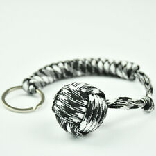 Outdoor Hiking Strength Paracord Monkey Fist Keychain With Steel Ball KJ-23