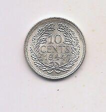 1944-P Netherlands Silver Ten Cents--Very High Grade !!