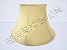 """Ballard Designs Couture Bell Lamp Light Bedside Shade Gold Dupioni Silk 14"""""""