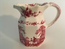 "Mason's Ironstone Vista Pink Red 5"" Milk Pitcher made in England Excellent Con"