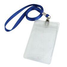 Supporto verticale di Plastica trasparente Carta ID Badge con Collo Cinghia F4A0