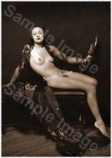 Vintage 109 1920's Erotic Female Nude Sepia Retro Art PHOTO REPRINT A4 A3 or A2