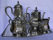 KAFFEESERVICE / TEESERVICE SILBER 800 W.RAUSCHER UM 1890