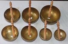 HAND BEATEN 7 CHAKRA SET MEDITATION SINGING BOWLS
