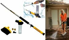 Water Zoom Garden Hose Pressure Jet Washer Cleaner Soap Dispenser Deep Brush