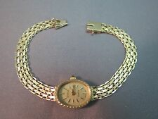 VTG 10k Yellow Gold Geneve Watch Mesh Bracelet 10g Bismark Swiss Movement NICE 7