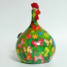 POMME PIDOU - exklusive Spardose - Keramikfigur HUHN MARIE grün / Schmett.