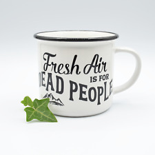 Fresh Air Is for Dead People True Crime Morbid Podcast Ceramic Camper Cup Mug