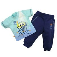 Baby Toddler  Boys 2 Pcs Outfit Set T-shirt & Trousers/Joggers 100% COTTON