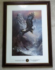 SAVE THE ALASKAN BALD EAGLE PROUD & FREE BY TED BLAYLOCK LITHOGRAPH ORIGINAL