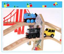Wooden Thomas Accessories Viaduct Clock Station Raised Track Train Set Bundle
