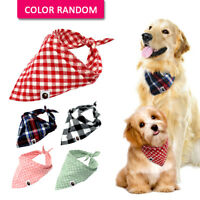 5pcs/lot Cotton Bandana Dog Collars Pet Puppy Cat Neck Scarf Neckerchief Yorkie