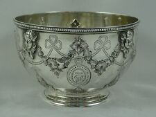 More details for stunning victorian silver sweet bowl, 1865, 191gm