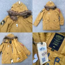 NWT SZ XL ALPHA INDUSTRIES INC N-3B ALTITUDE TUMBLEWEED PARKA JACKET COAT FUR