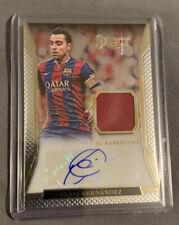 2016-17 Panini Select Soccer Xavi Hernandez Gold Patch Auto Barcelona Spain