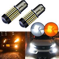 Switchback LED Front Turn Signal Light Bulbs for Honda Accord Civic CR-V Odyssey