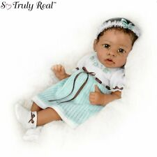 "Ashton Drake ""Alicia"" Gentle Touch-Activated Interactive Baby Girl Doll NEW Gift"