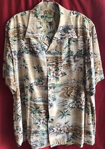 Kamehameha Hawaiian Diamond Head Shirt Rayon sz.XL