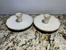 Lenox Gold Trim Candle Holders! Mint Condition!