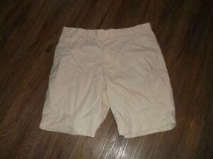 Men's BANANA REPUBLIC Emerson Shorts Sz 35 Flat Front 100% Cotton