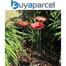 8 x Kingfisher Natures Market Wild Bird Poppy Flower Feeders Bath Free Standing