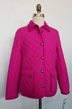 Ralph Lauren Girls Quilted Barn Jacket Pink L 12-14 NWT