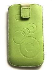 Handy Tasche Etui Hülle Case gemustert Circle creme-grün für Nokia 1