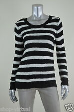 Pink Rose New Womens Black Striped Long Sleeve Pullover Sweater Top MSRP$44 M