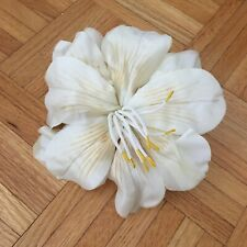 Fabric Silk Handmade Flowers Brooch Wedding Ivory Rose Peony Lilly