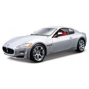 Bburago 1:24 Maserati GT GrandTurismo Diecast Model Sports Racing Car Toy Silver
