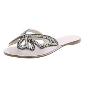Sophia Webster Womens MDM Butterfly Silver Slide Sandals 36.5 Medium (B,M) 8149