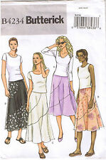 Easy Loose Fit Flared Skirts Contrast Middle Butterick Sewing Pattern Sz 6 8 10