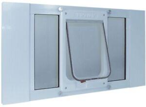 Ideal Pet Large Chubby Dog Cat Door 7.5 x 10.5 Kat Frame Sash Window 27-32 Inch