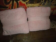 VINTAGE RALPH LAUREN LIGHT TEA ROSE PINK (2) LARGE BATH TOWELS SET