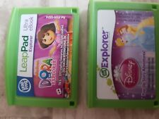 2 LEAP PAD GAMES DORA THE EXPLORER & DISNEY PRINCESS Leapfrog Leappad 2 3 Ultra