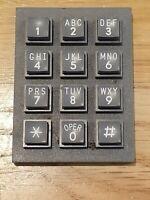 CHOMERICS vintage numeric keypad numbers #23345 rare