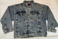 Rolling Stones Vintage Remake Stonewashed Denim Blue Jean Jacket Tag Large NEW