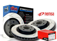 DBA T2 Slotted FRONT Rotors 322mm & REMSA Brake Pads Falcon BF FG XR6-T Turbo