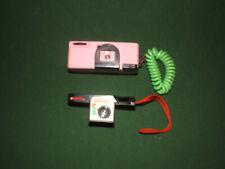 2 Vintage Mini 110 Cameras Kelloggs Corn Flakes & pink