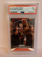 2019-20 Panini Prizm De'Andre Hunter Atlanta Hawks Rookie NBA Card #251 PSA 7