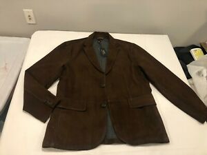 NWT $898.00 Polo Ralph Lauren Mens Suede Sportcoat / Jacket Coop Brown Size XL