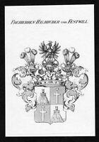 1820 - Halbhuber von Festwill Wappen Adel coat of arms heraldry Heraldik