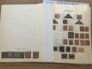 M60)) Smlg. Kanada-Neufundland 1857-1947 auf Borek Blätter, fast nur gestempelt