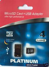 Platinum 4GB SDHC Speicherkarte Class 6 inkl. USB Adapter 177315