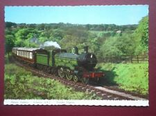 POSTCARD AIR HENRY OAKLEY ATLANTIC 4-4-2 TENDER ENGINE PULLING PULLMAN COACHES