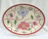 Blue Ridge Southern Potteries Eglantine Clinchfield Platter Red Blue Flowers
