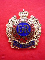Royal Engineers RE Gilt/Enamel Army Cap/Beret Badge Military Lapel/Tie Pin New!