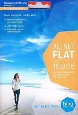 Blau.de Allnet Flat - Startpaket Sim Karte mit 2000MB 2GB Freivolumen #NEU & OVP