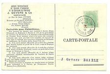 AK (Landkaart) gefr. Belgie 5c.Koning ,st: BAARLE HERTOG-BAARLE DUC 1915