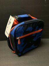 Pottery Barn Teen GearUp Blue CAMO Classic Lunch Bag Box Camouflage School NEW